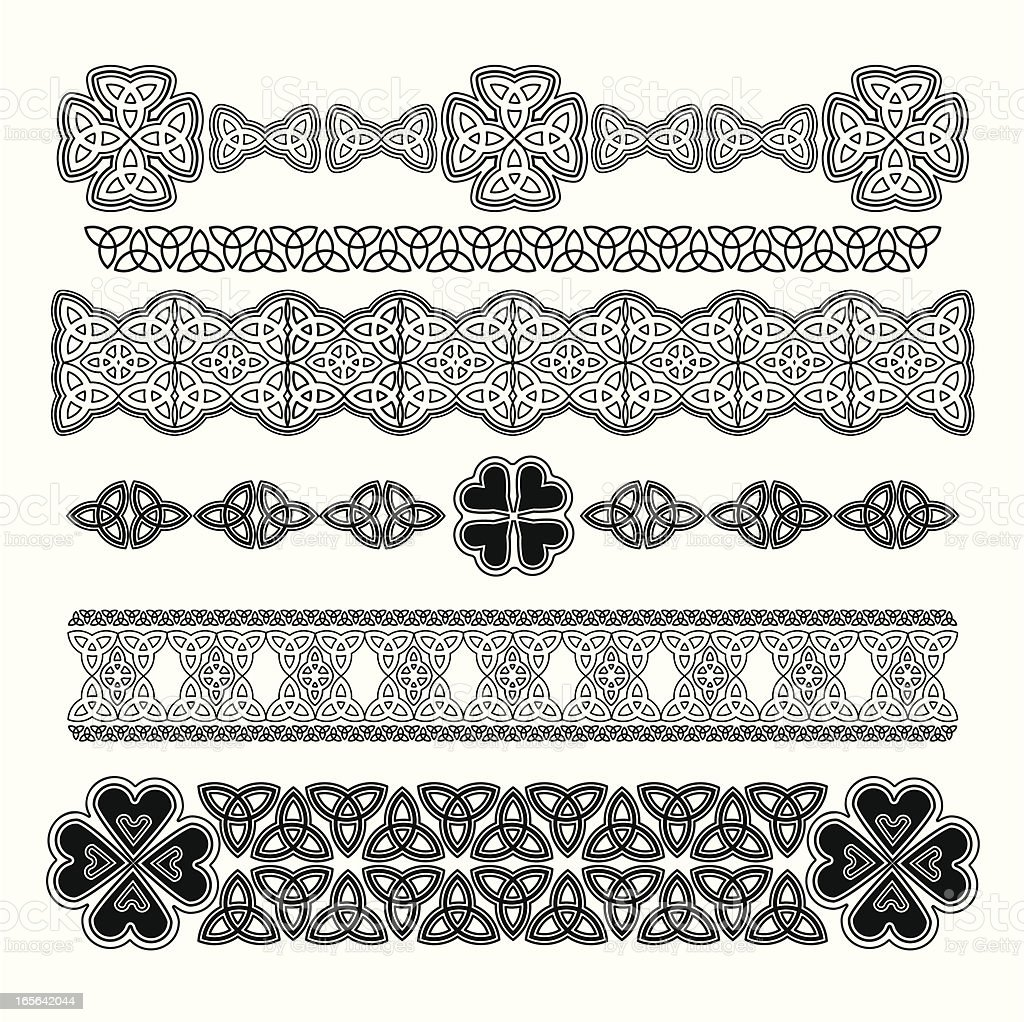 Design Element for St. Patrick's Day - Royalty-free Black And White stock vector