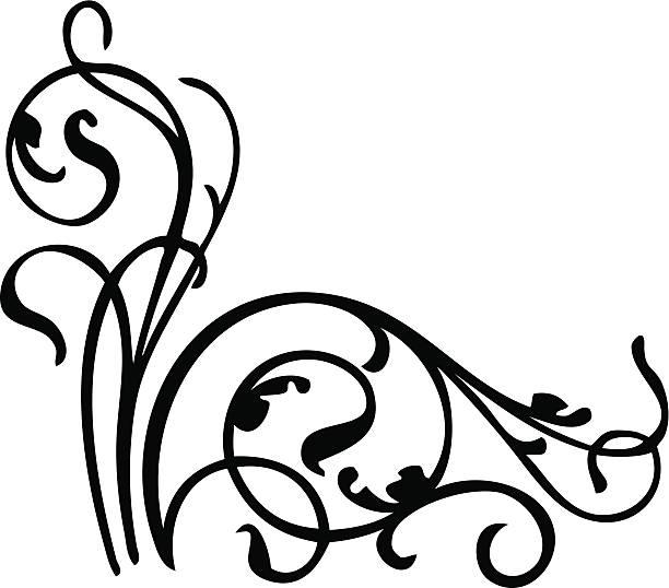 Design element in black and white. vector art illustration