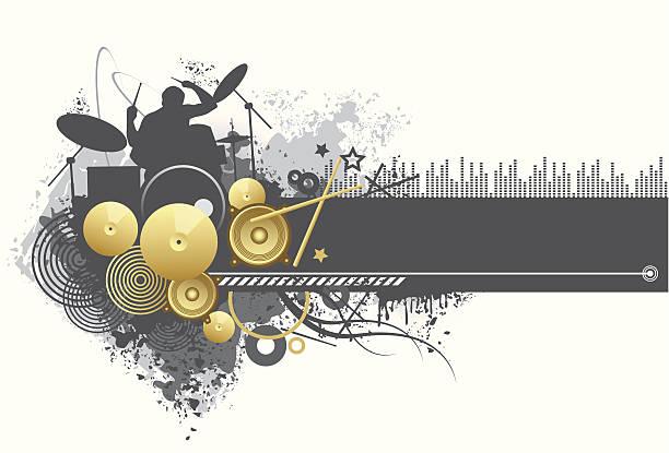 element projektu-muzyka theme - talerz perkusyjny stock illustrations