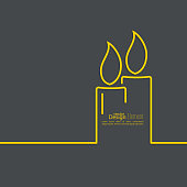 A design element of burning candles