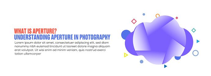 Design element related to aperture, camera, photography