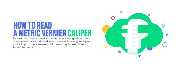 Design element related to caliper, measuring, technics