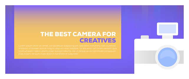 Design element related to camera, photography