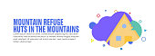 istock Design element related to mountain hut, refuge, chalet 1271208502