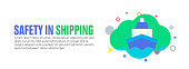 istock Design element related to shipping, transportation, travel, merchandise, delivery 1266948703