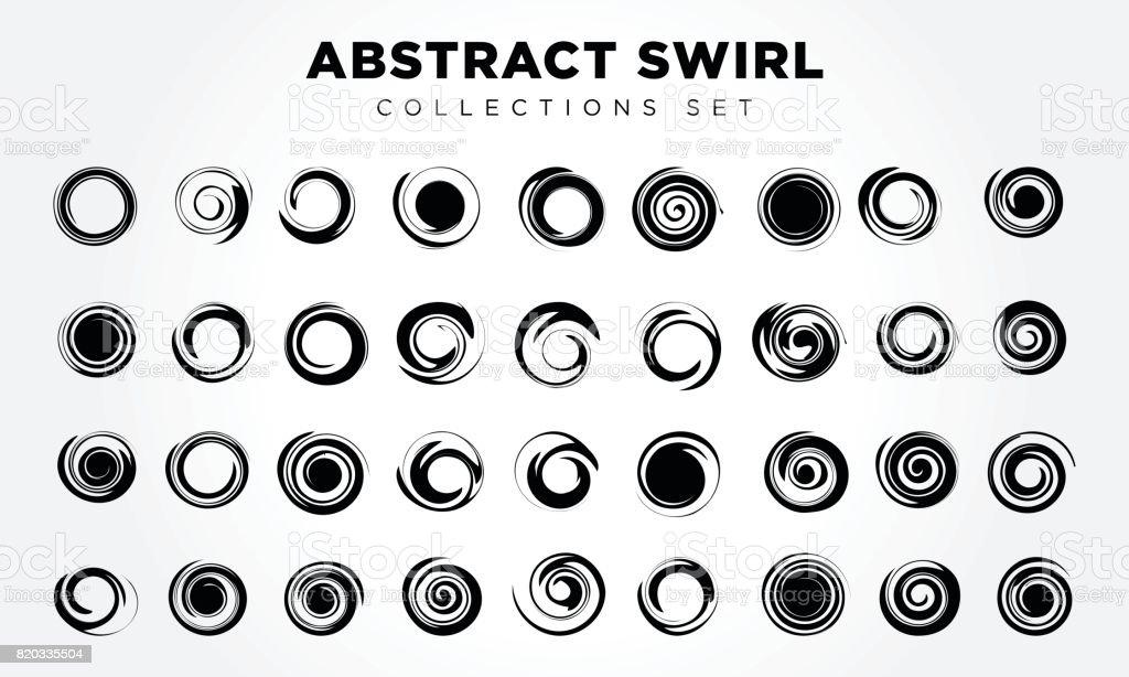 Design Elements Abstract swirl & circle vector art illustration