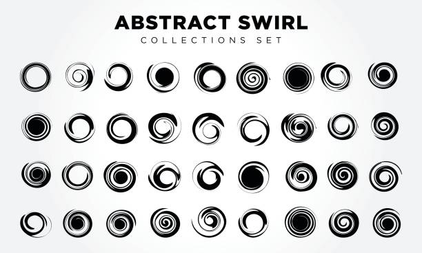 design elements abstract swirl & circle - spiral stock illustrations