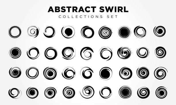 design elements abstract swirl & circle - спираль stock illustrations