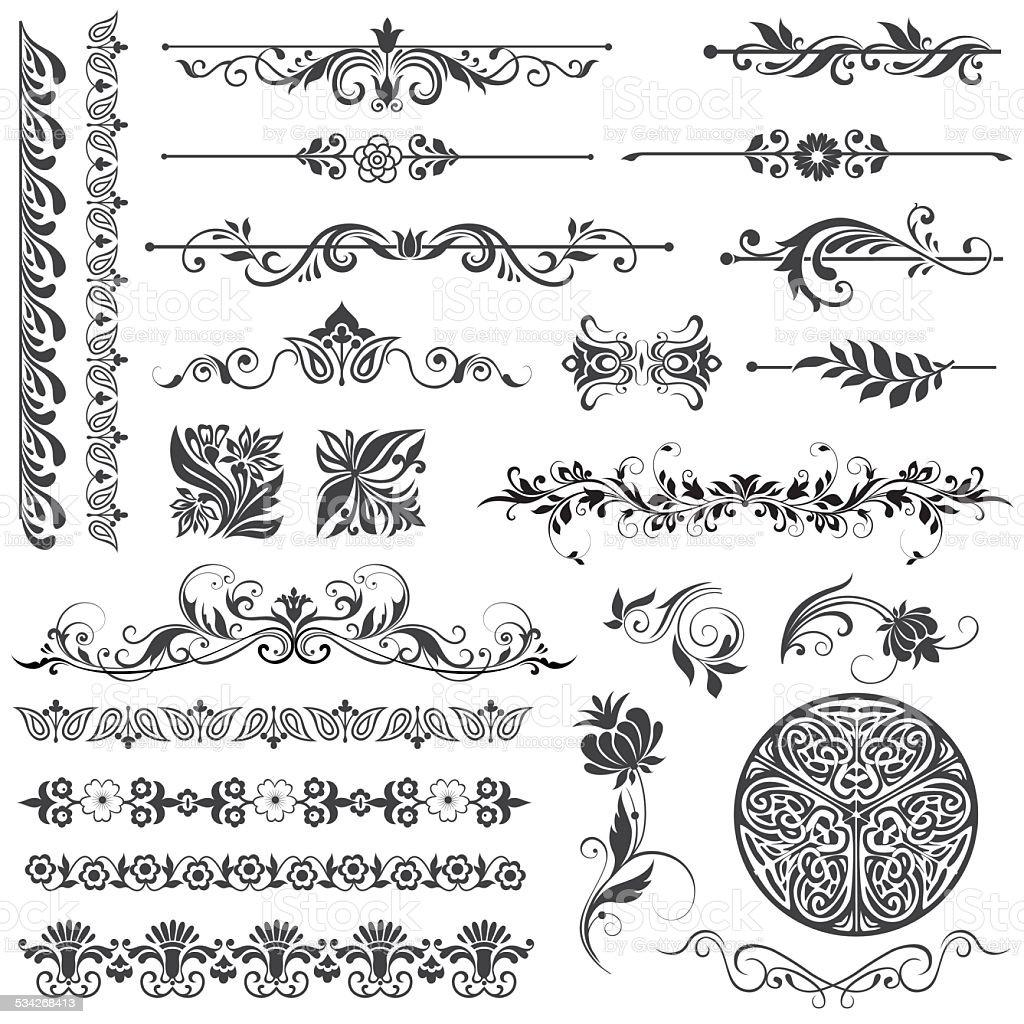 design elements and page decoration vector art illustration