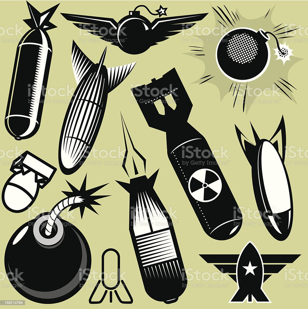 Design Elements - Bombs royalty-free stock vector art