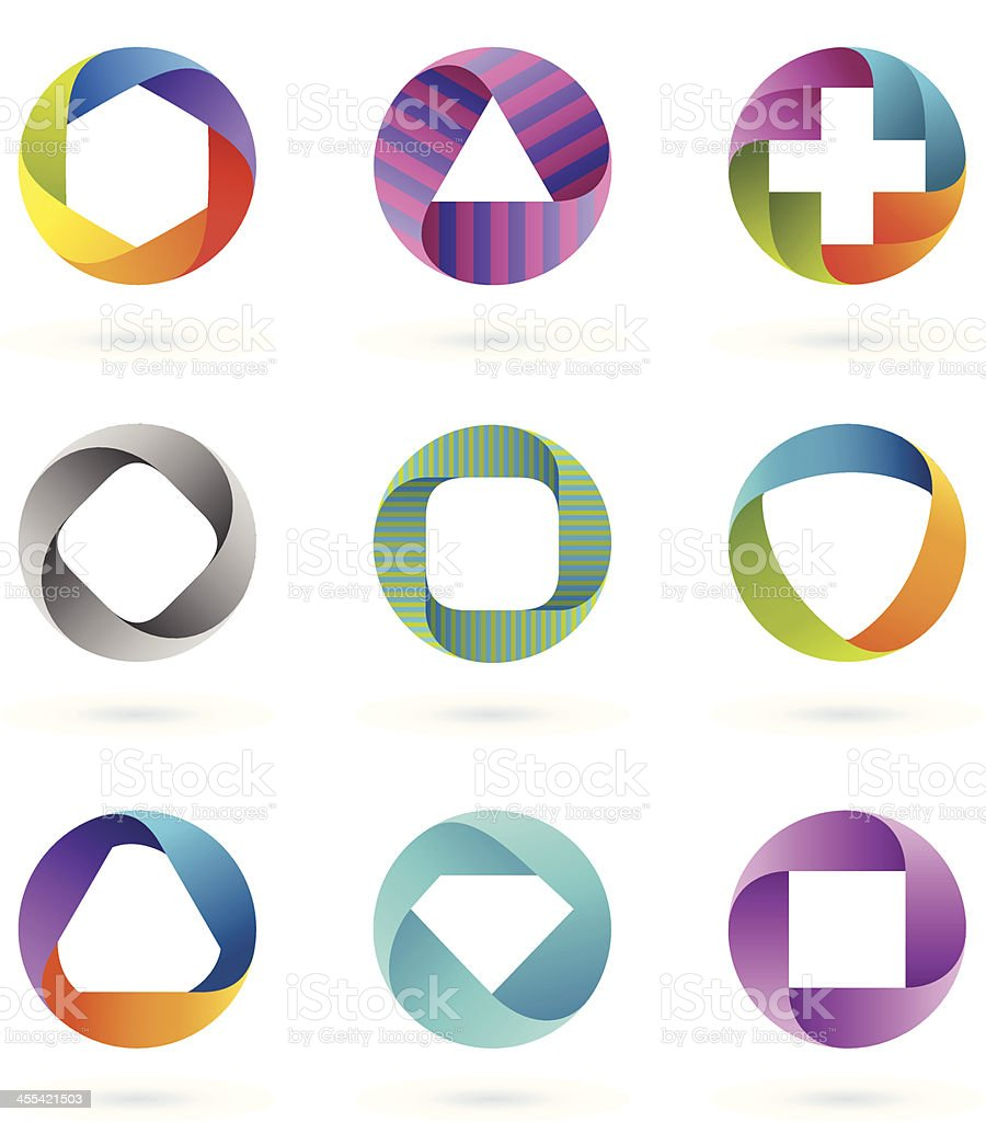 Design Elements | circle set #1 vector art illustration