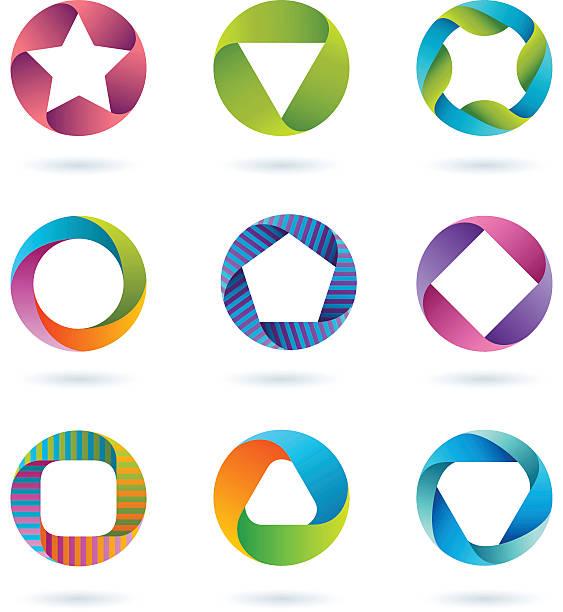 Design Elements   circle set #2 vector art illustration
