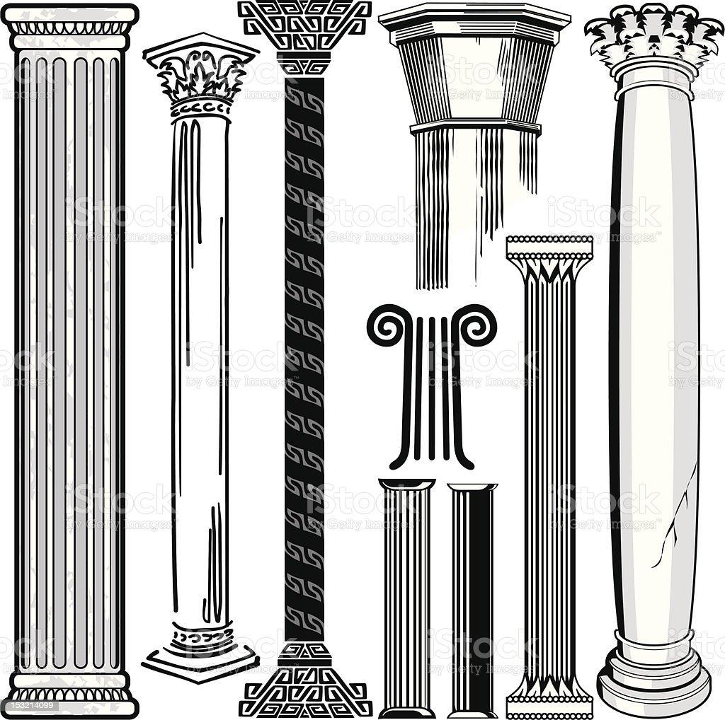 Design Elements - Columns royalty-free stock vector art