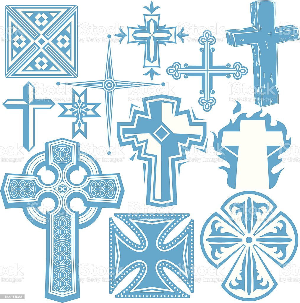 Design Elements - Crosses royalty-free stock vector art
