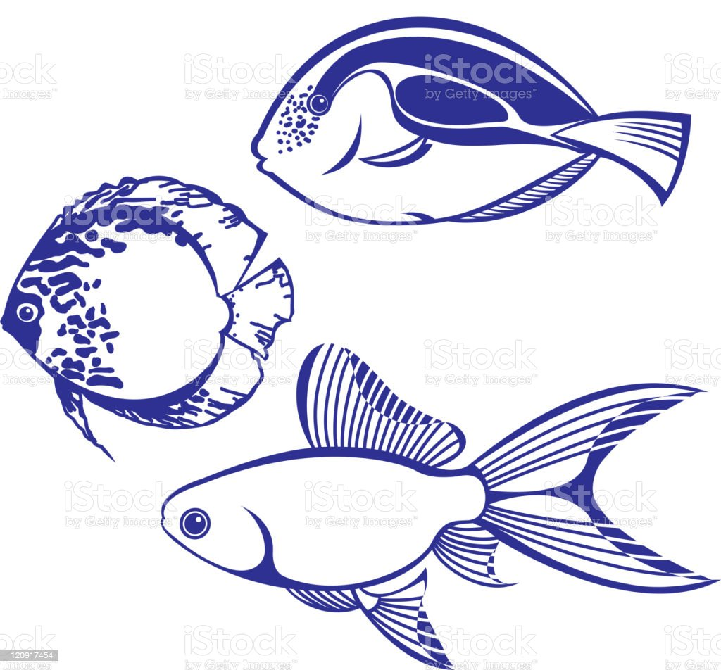 Design Elements - Fish silhouettes royalty-free stock vector art