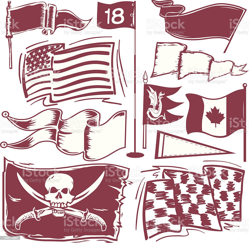 Design Elements - Flags royalty-free stock vector art