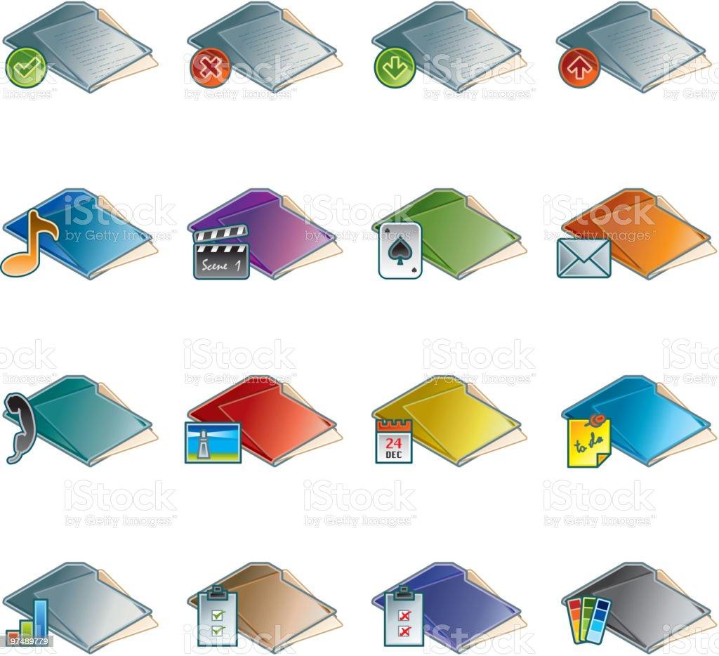 Design Elements. Folders Icon Set royalty-free design elements folders icon set stock vector art & more images of black color