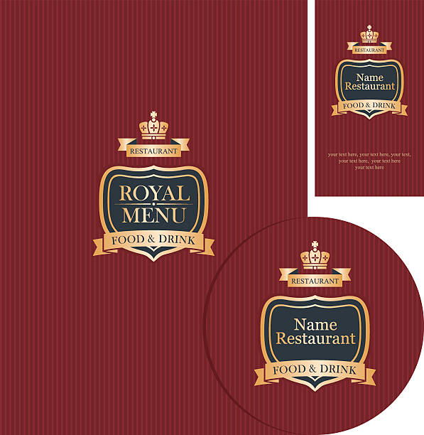 Royalty free business card stand clip art vector images design elements for cafe or restaurant vector art illustration reheart Image collections