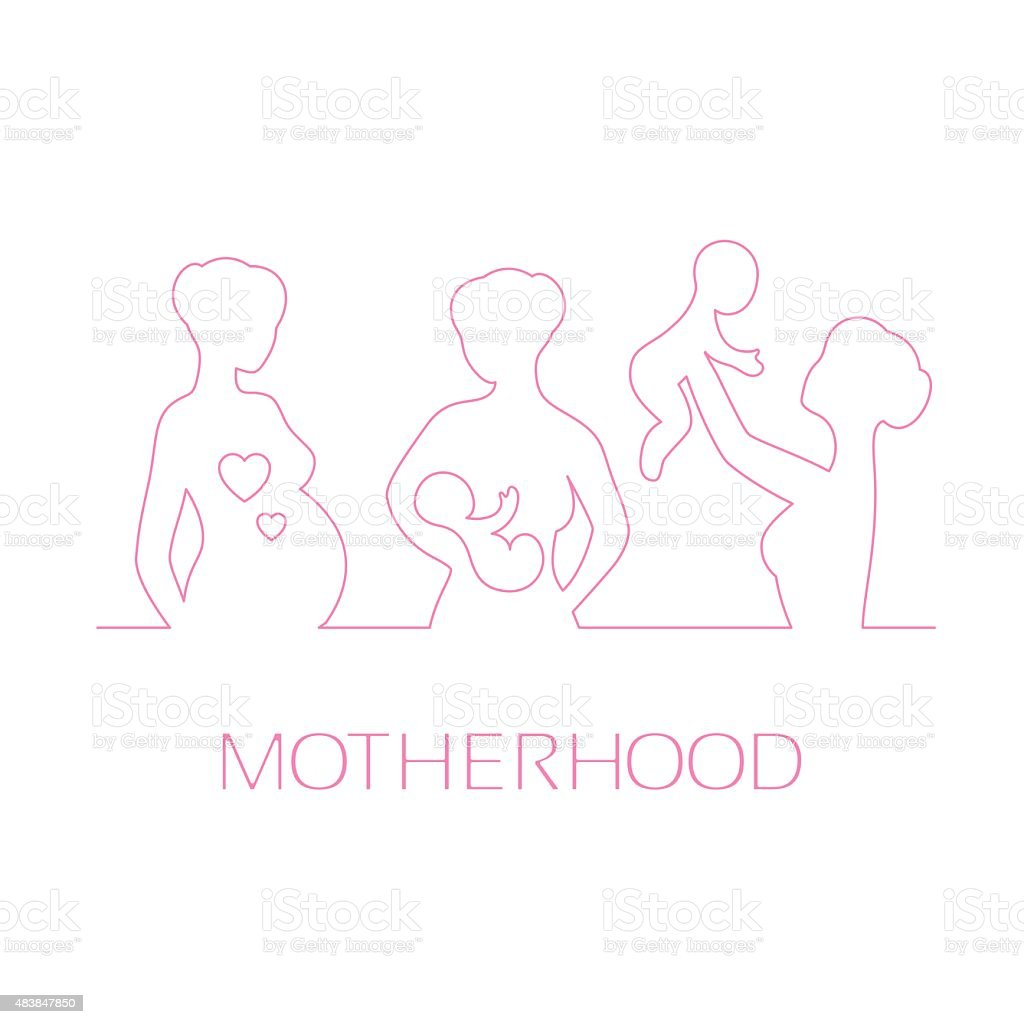 Design elements for design Mothers Day greetings vector art illustration