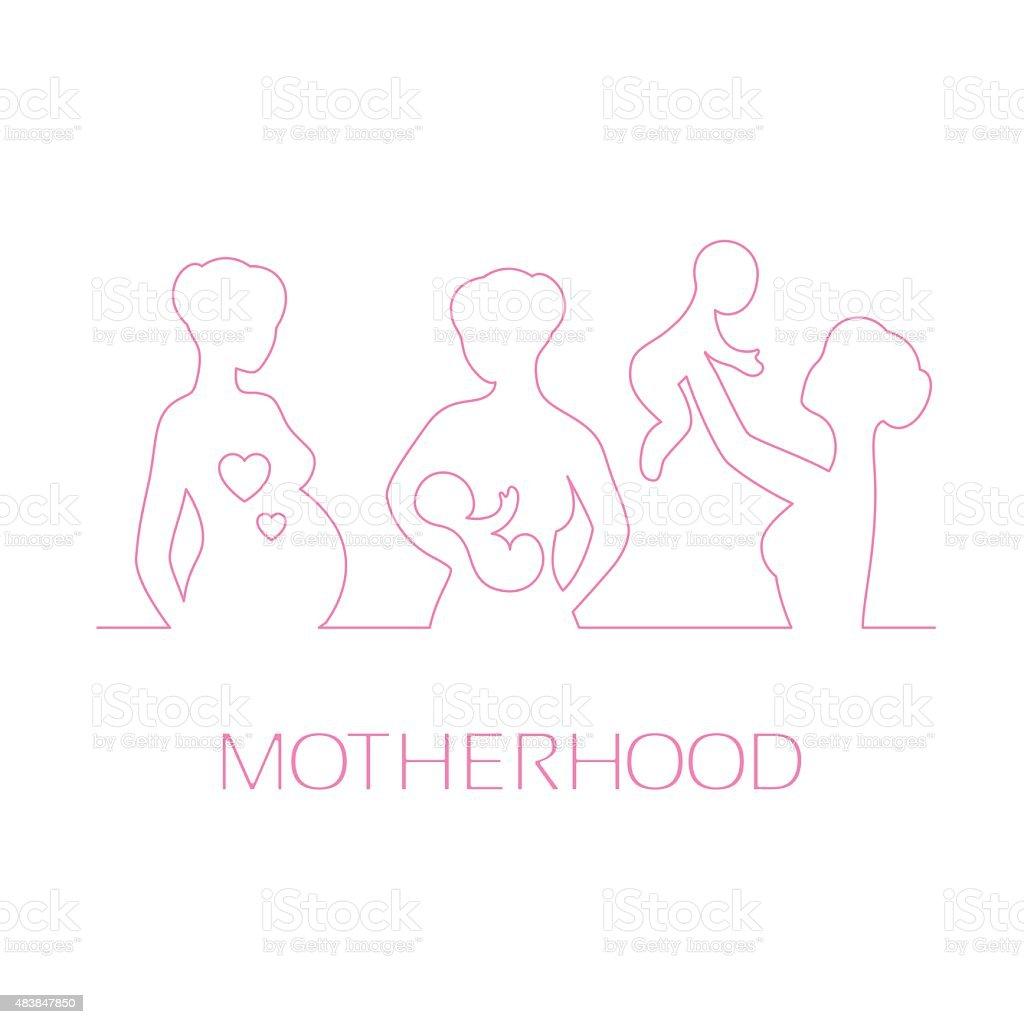Design elements for design Mothers Day greetings vector art illustration