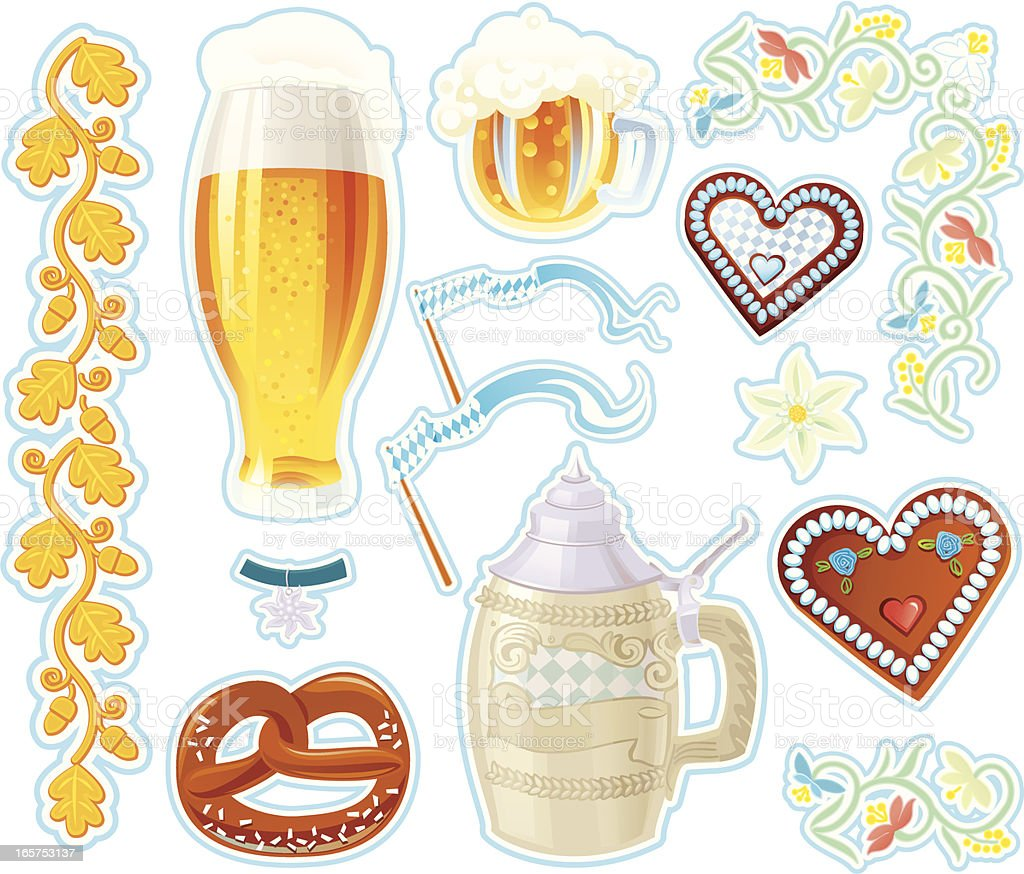Design Elements for Oktoberfest royalty-free stock vector art