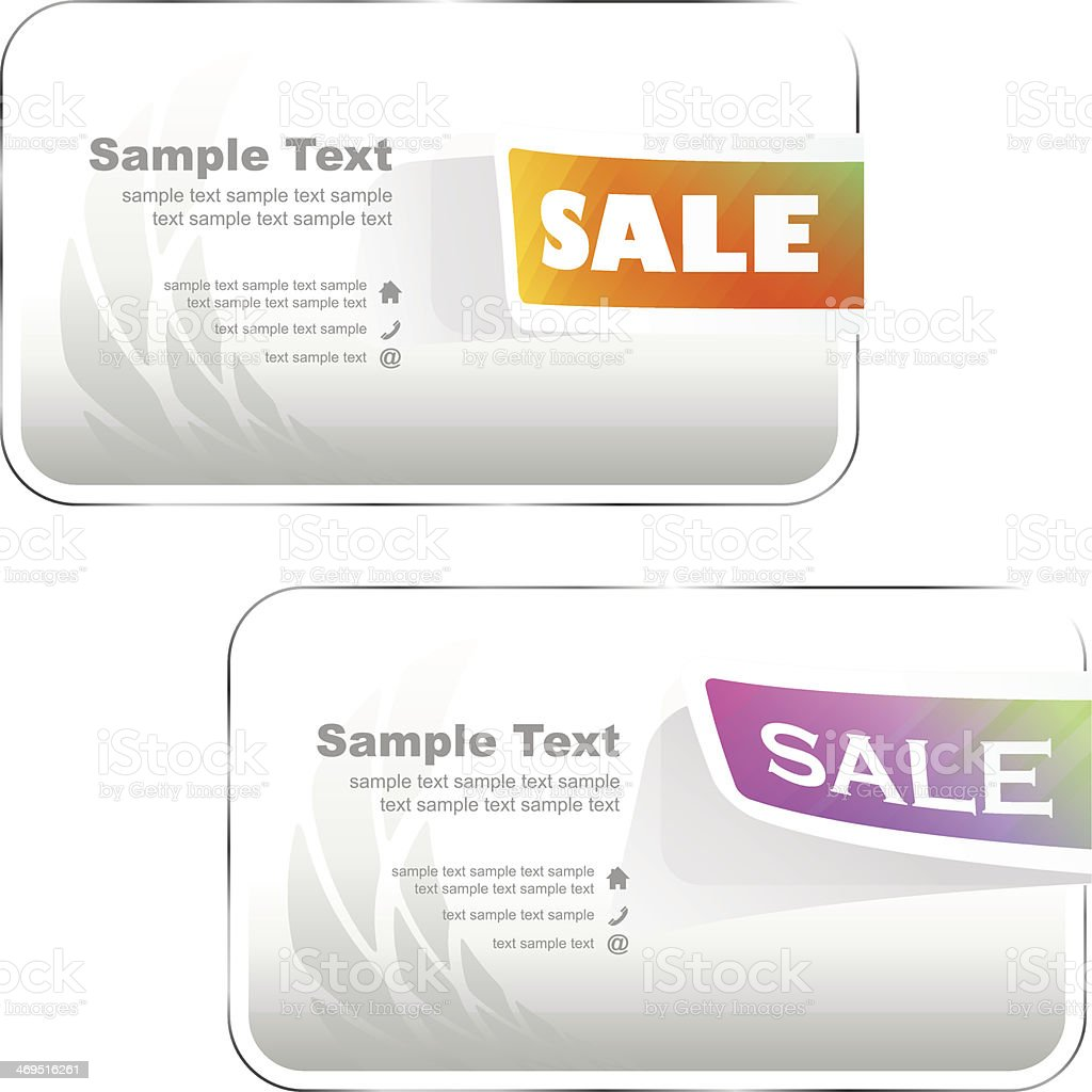Design elements for sale. royalty-free stock vector art