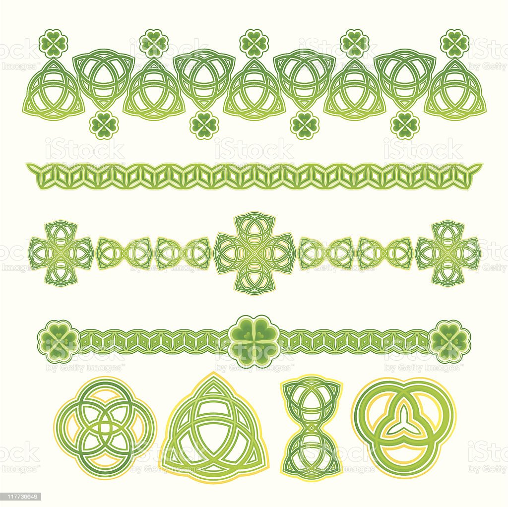 Design Elements for St. Patrick's Day (colour) royalty-free stock vector art