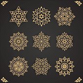 Design elements graphic Thai design isolated on seamless backgro