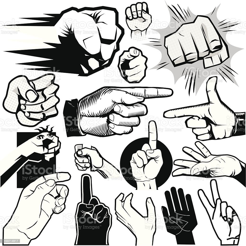 Design Elements - Hands vector art illustration