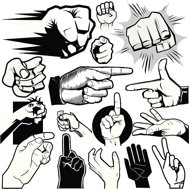 design elements - hands - 毆打 幅插畫檔、美工圖案、卡通及圖標