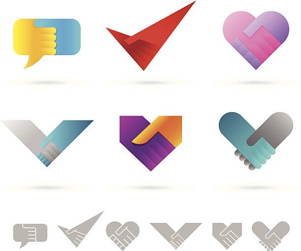 Design elements   Handshake vector art illustration