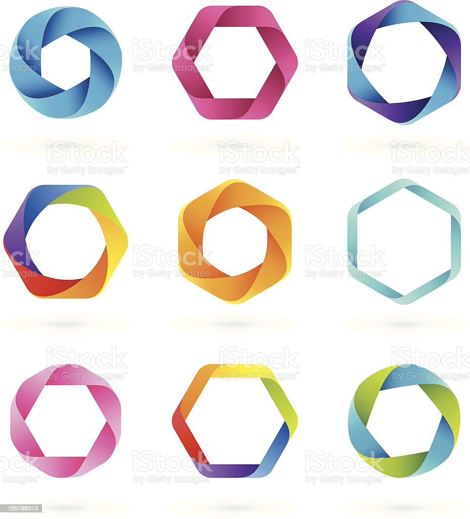 Design Elements | HEXAGON royalty-free stock vector art
