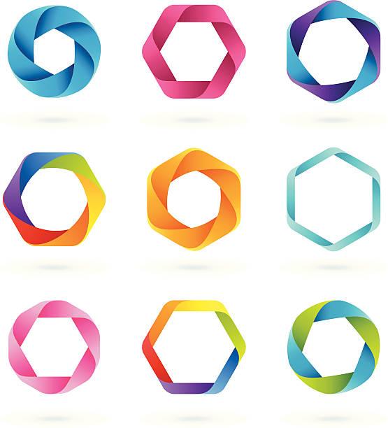 Design Elements   HEXAGON vector art illustration