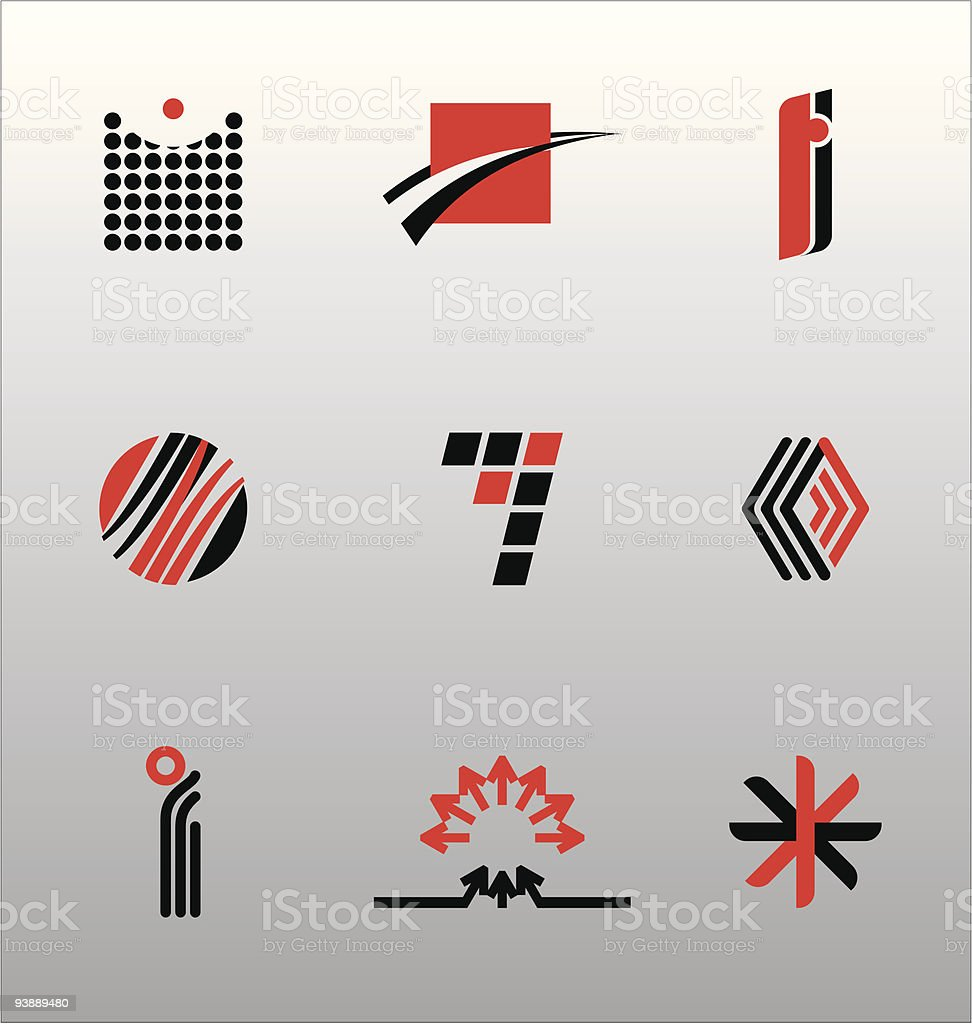 Design Elements - Icon Set (4) royalty-free design elements icon set stock vector art & more images of acute angle