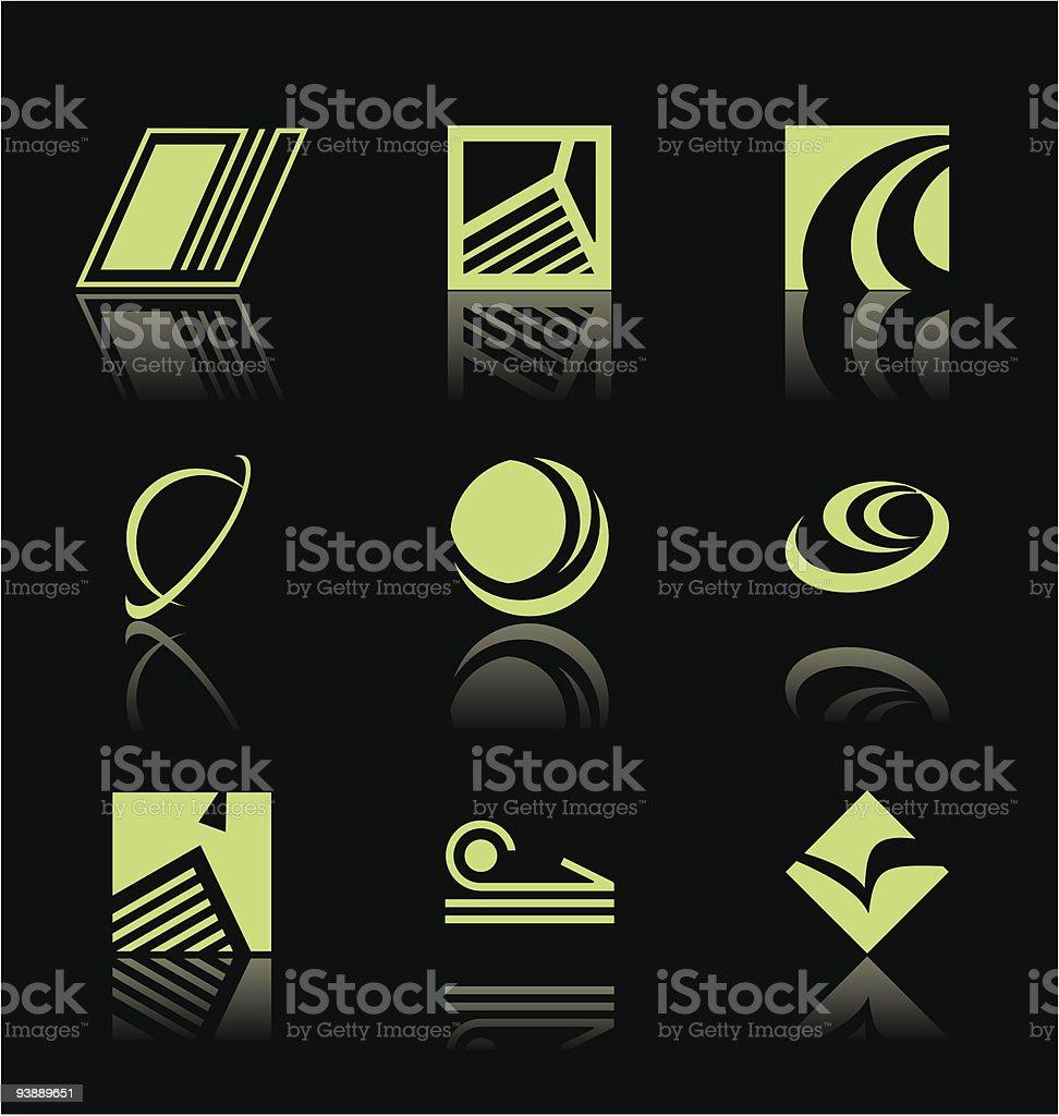 Design Elements - Icon Set royalty-free stock vector art