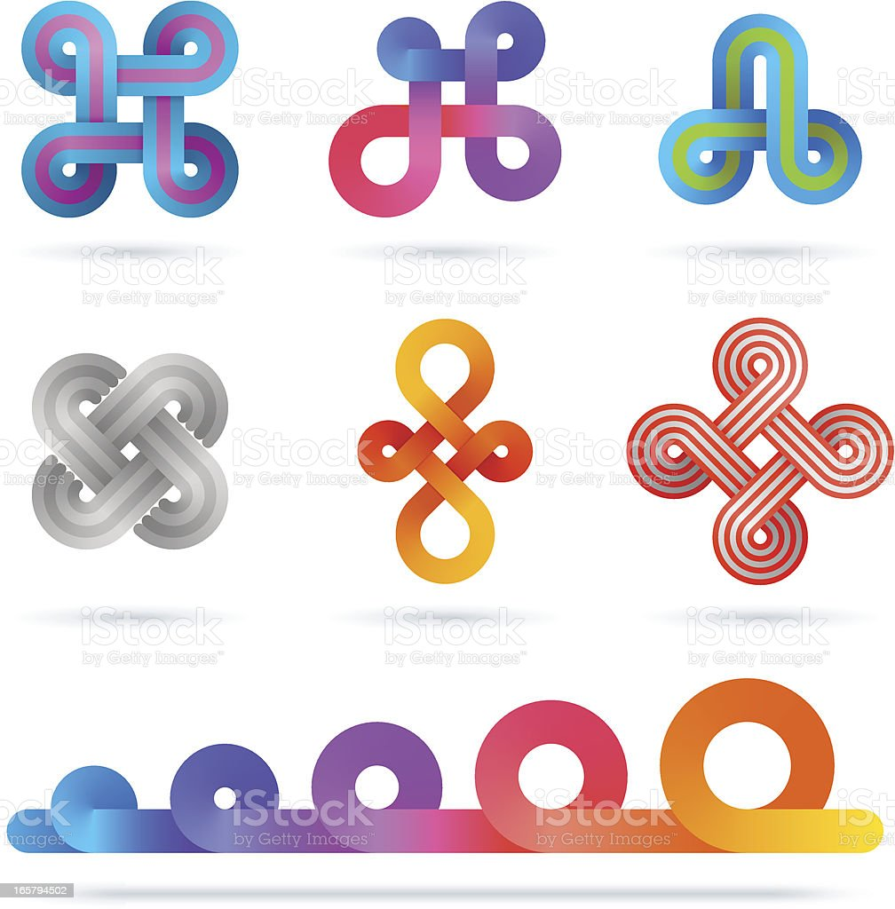 Design Elements | infinity gradient set royalty-free stock vector art