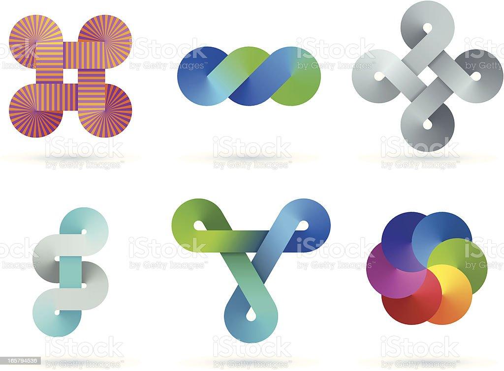 Design Elements   infinity gradient set royalty-free stock vector art