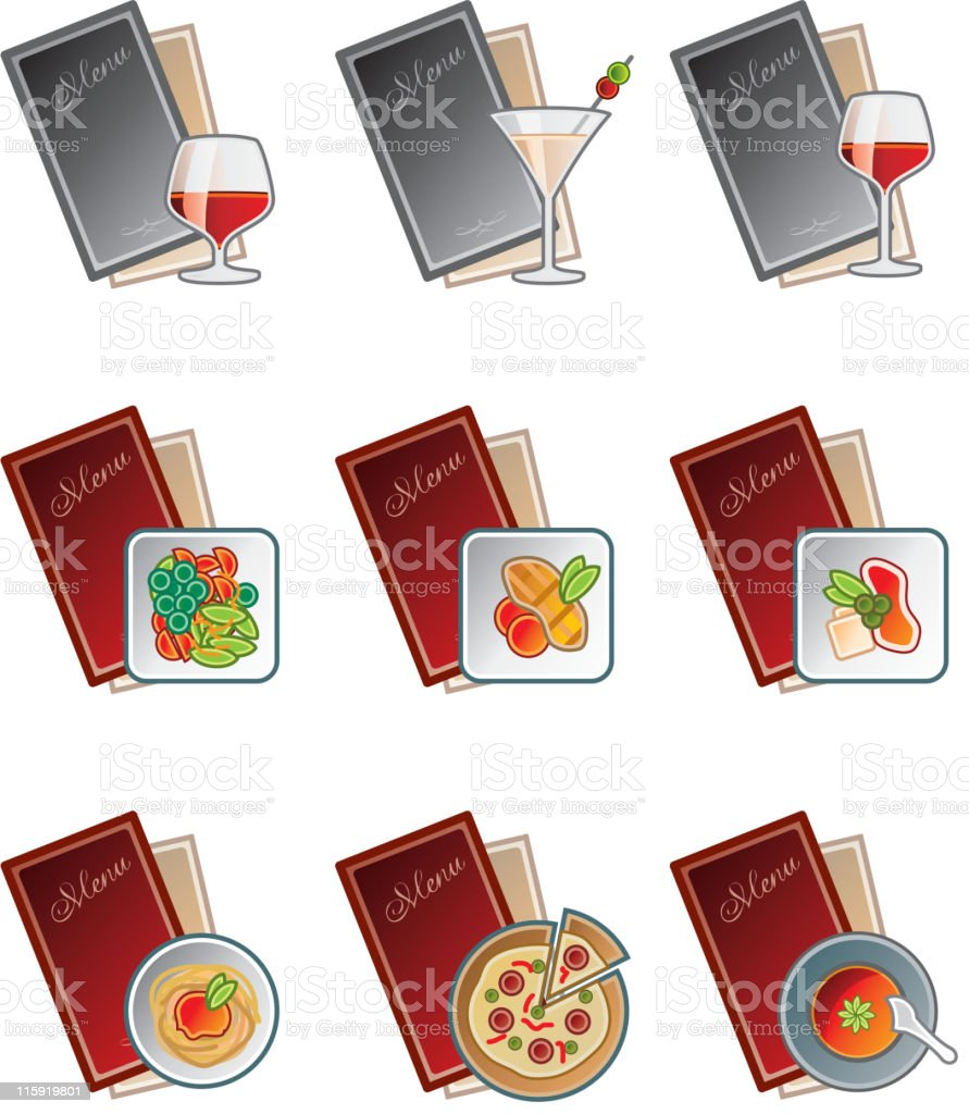 Design Elements. Menu Icons Set. royalty-free stock vector art