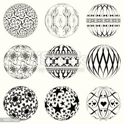 istock Design Elements - Ornate Spheres 165071330