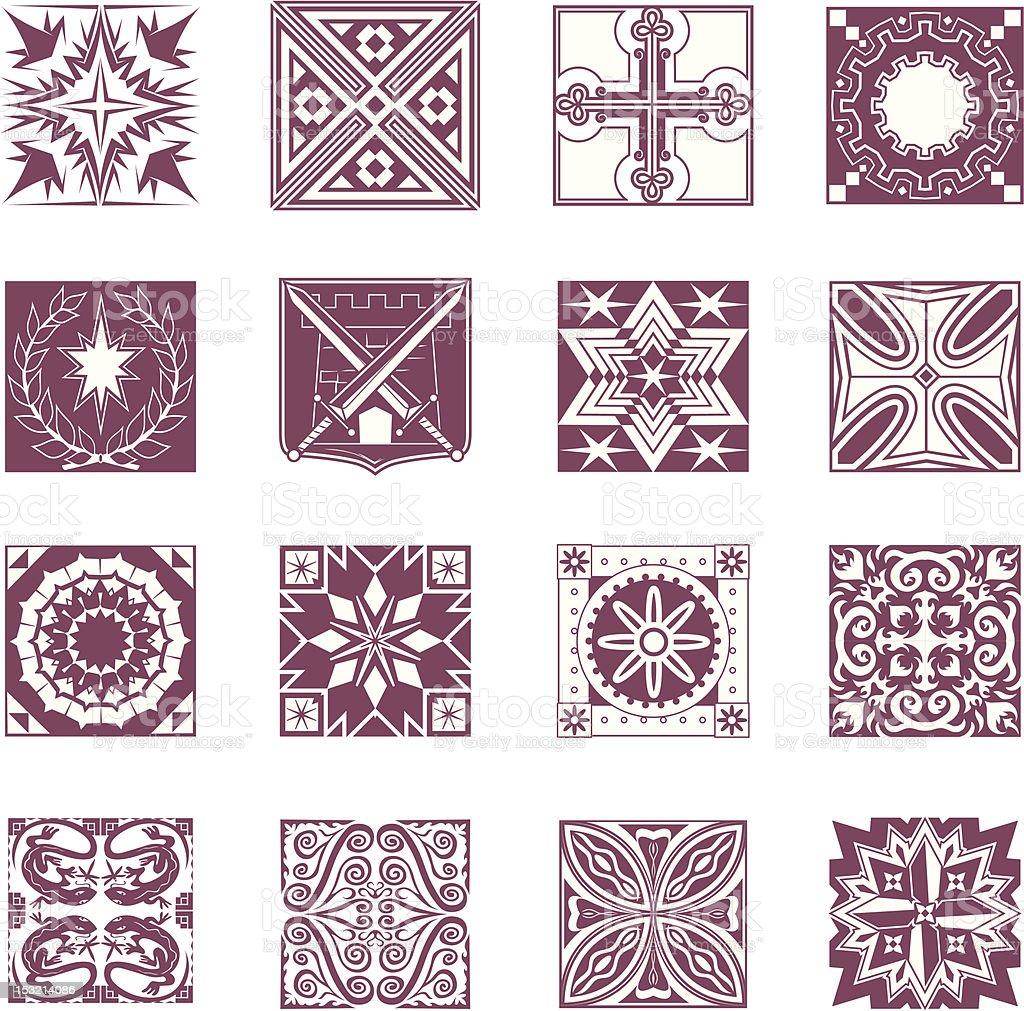Design Elements - Ornate Tiles 2 vector art illustration
