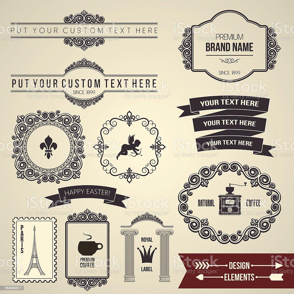 design elements part 2 royalty-free stock vector art