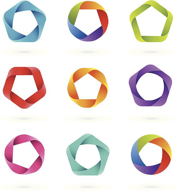 Design Elements   PENTAGON vector art illustration