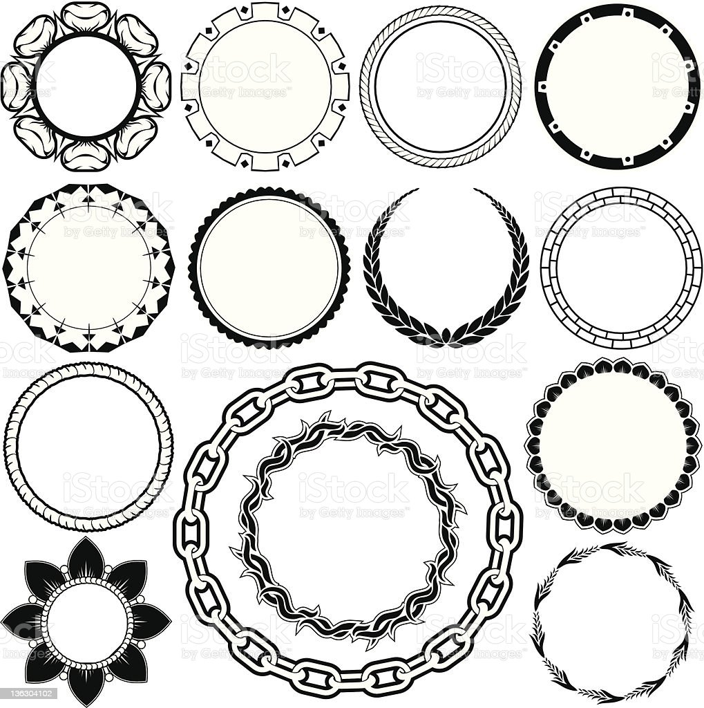 Design Elements - Rings & Circlets vector art illustration
