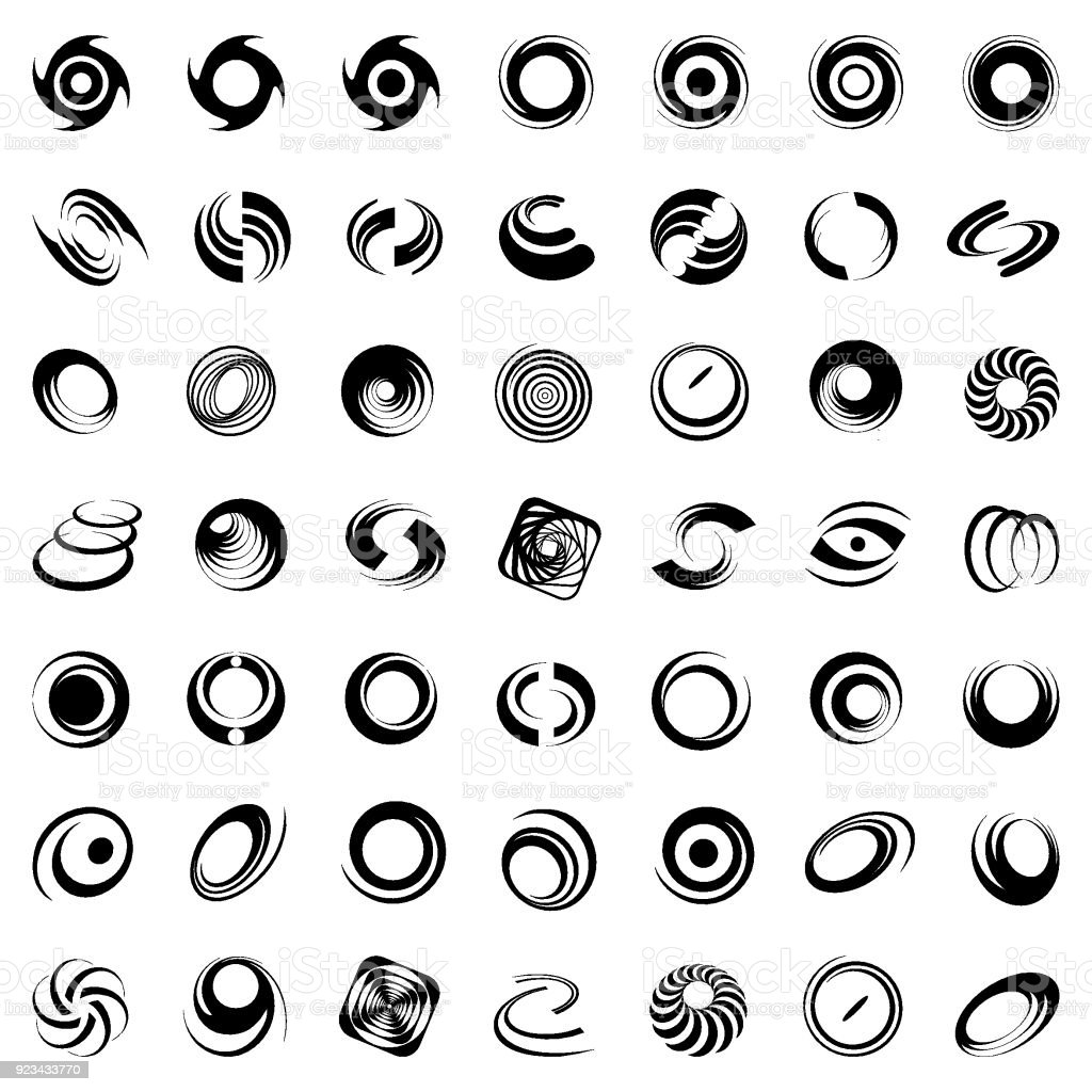 Design elements set. vector art illustration