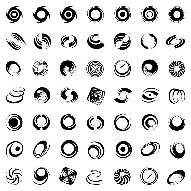 design elements set. - snail stock illustrations