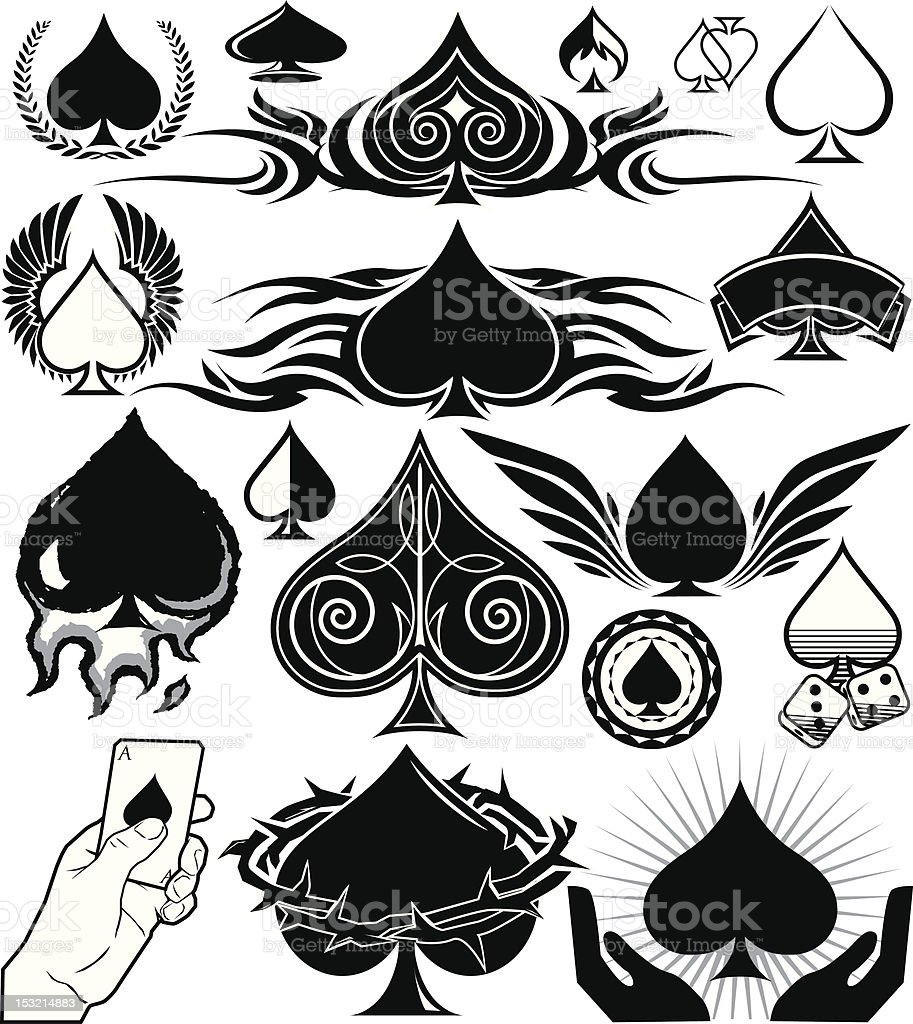 Design Elements - Spades vector art illustration