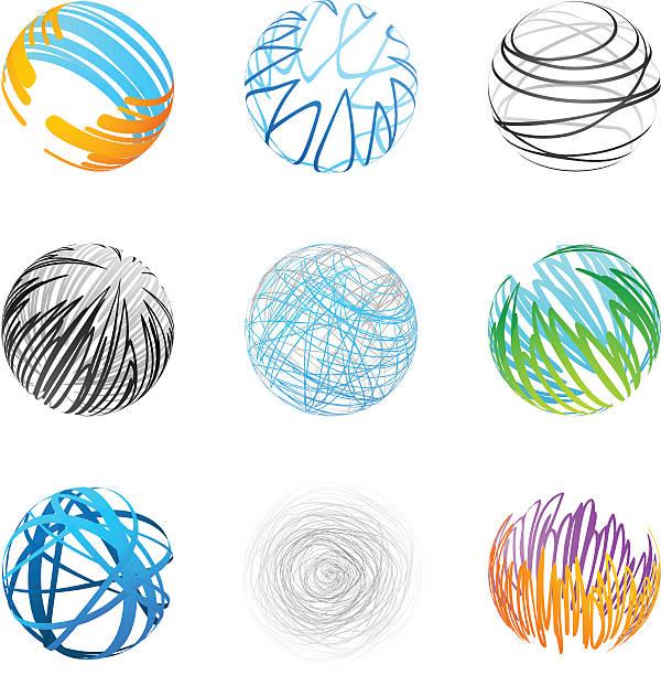 Design Elements   sphere set 1 vector art illustration