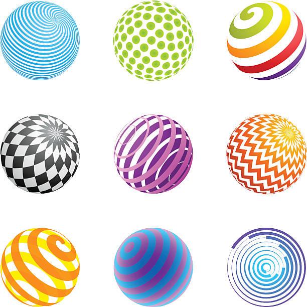 Design Elements   sphere set vector art illustration