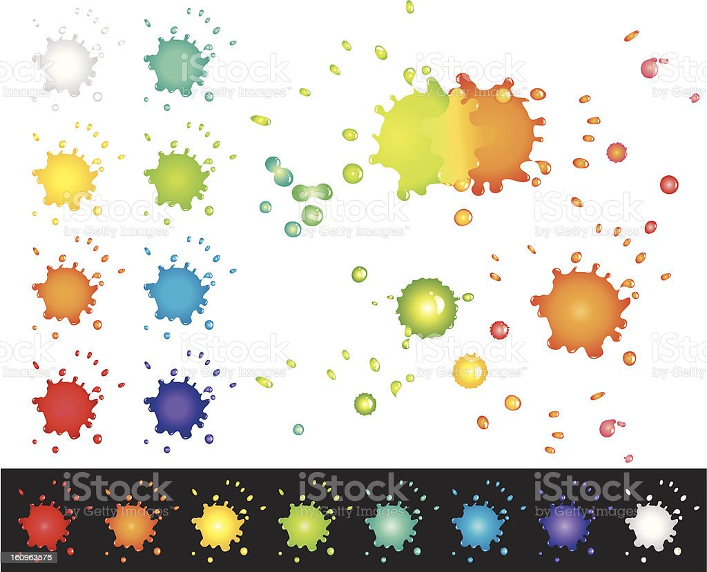Design Elements - Splashes vector art illustration