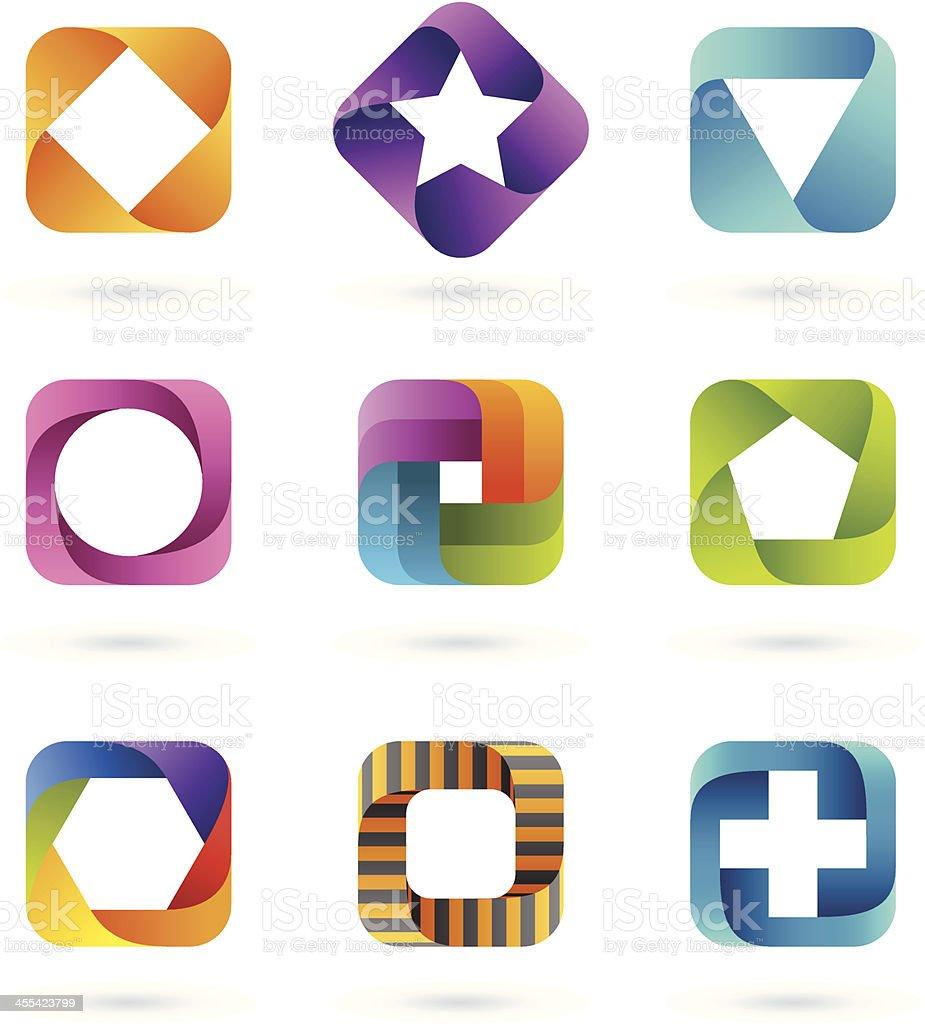 Design Elements | square set #1 vector art illustration